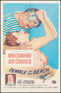 """Movie Posters:Drama, Female on the Beach & Other Lot (Universal International, 1955). Folded, Fine/Very Fine. One Sheets (2) (27"""" X 41"""" & 26.75"""" ... (Total: 2 Items)"""