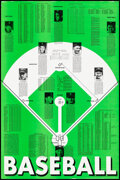 """Movie Posters:Sports, Baseball: Encyclopedia Americana (c. 1970s). Rolled, Very Fine. Poster (24"""" X 36""""). Sports.. ..."""