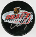 Autographs:Others, Alexander Ovechkin Signed 2004 NHL Draft Puck....