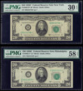 Small Size:Federal Reserve Notes, Fr. 2062-B*; C* $20 1950C Federal Reserve Notes. PMG Graded Very Fine 30 EPQ; Choice About Unc 58 EPQ.. ... (Total: 2 notes)