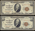 Fr. 1860-L $10 1929 Federal Reserve Bank Notes. Two Examples. Very Fine; Fine-Very Fine. ... (Total: 2 notes)