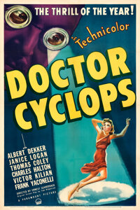 """Doctor Cyclops (Paramount, 1940). Fine/Very Fine on Linen. One Sheet (27"""" X 41"""")"""