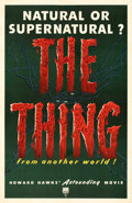 """Movie Posters:Science Fiction, The Thing from Another World (RKO, 1951). Very Fine on Linen. One Sheet (27"""" X 41"""")...."""