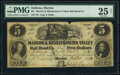 Obsoletes By State:Indiana, Marion, IN- Marion & Mississinewa Valley Rail Road Co. $5 Jan. 5, 1854 Wolka 1515-01 PMG Very Fine 25 Net....