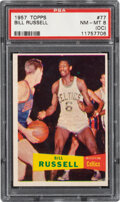 Basketball Cards:Singles (Pre-1970), 1957 Topps Bill Russell Rookie #77 PSA NM-MT 8 (OC).