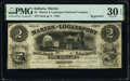 Obsoletes By State:Indiana, Marion, IN- Marion and Logansport Railroad Company $2 Jan. 2, 1854 Wolka 1510-04 PMG Very Fine 30 EPQ.. ...