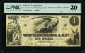 Obsoletes By State:Indiana, Logansport, IN- Crawfordsville, Logansport, and Northern Indiana R.R. Co. $1 June 1, 1855 Wolka 1375-01 PMG Very Fine 30....