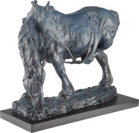 George Carlson (American, b. 1940) Patience, 1998 Bronze with blue patina 18 inches (45.7 cm) hig