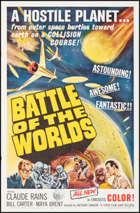 """Battle of the Worlds (Topaz, 1963). Folded, Very Fine+. One Sheet (27"""" X 41""""). Science Fiction"""
