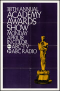 """Movie Posters:Miscellaneous, 38th Academy Awards Show (ABC, 1966). Folded, Very Fine-. One Sheet (27"""" X 41""""). Miscellaneous.. ..."""