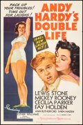 """Movie Posters:Comedy, Andy Hardy's Double Life (MGM, 1942). Folded, Very Fine+. One Sheet (27"""" X 41"""") Style C. Comedy.. ..."""