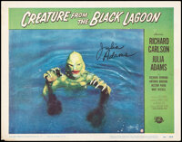 """Creature from the Black Lagoon (Universal International, 1954). Fine/Very Fine. Autographed Lobby Card (11"""" X 14&qu..."""