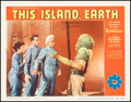 """Movie Posters:Science Fiction, This Island Earth (Universal International, 1955). Near Mint. Autographed Lobby Card (11"""" X 14""""). Science Fiction.. ..."""