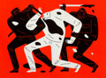 Prints & Multiples, Cleon Peterson (b. 1973). The Disappeared (Red), 2019. Screenprint in colors on Coventry Rag paper. 18 x 24 inches (45.7...