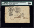 Chile United Treasury and Customs 8 Reales 1840 Pick S102 PMG Very Fine 20