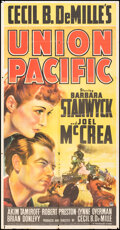 """Movie Posters:Western, Union Pacific (Paramount, 1939). Folded, Fine-. Three Sheet (41"""" X 80"""") Style A. Western.. ..."""