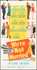 """Movie Posters:Comedy, We're Not Married (20th Century Fox, 1952). Folded, Very Good/Fine. Three Sheet (41"""" X 80""""). Comedy.. ..."""