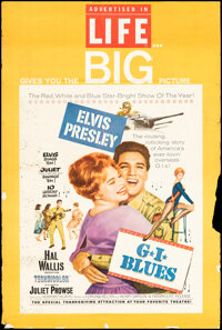 """G.I. Blues (Paramount, 1960). Rolled, Very Good/Fine. Special Life Magazine Promotional Poster (30"""" X 40""""). El..."""