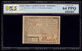 Colonial Notes:Rhode Island, Rhode Island July 2, 1780 $5 Remainder PCGS Choice Unc 64 ...