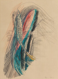 Flora Blanc Reeder (American, 1916-1995) Untitled Mixed media on paper 17 x 13 inches (43.2 x 33.0 cm) (sheet) Signe