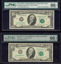 Small Size:Federal Reserve Notes, Fr. 2024-B; D* $10 1977A Federal Reserve Notes. PMG Gem Uncirculated 66 EPQ.. ... (Total: 2 notes)
