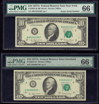 Fr. 2024-B; D* $10 1977A Federal Reserve Notes. PMG Gem Uncirculated 66 EPQ. ... (Total: 2 notes)