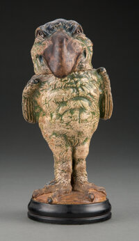 Martin Brothers Glazed Stoneware Grotesque Bird Covered Jar, 1907 Marks: R.W. Martin & Bros, London & Southal