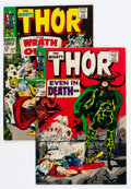 Silver Age (1956-1969):Superhero, Thor #147 and 150 Group (Marvel, 1967-68) Condition: Average VF+.... (Total: 2 )