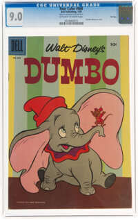 Four Color #668 Dumbo - Second Printing - File Copy (Dell, 1955) CGC VF/NM 9.0 Off-white to white pages