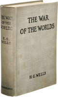 Books:First Editions, H. G. Wells: The War of the Worlds. (London: WilliamHeinemann, 1898), first edition, no statement of printing on theco...