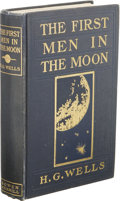 Books:First Editions, H. G. Wells: The First Men in the Moon. (Indianapolis: TheBowen-Merrill Company Publishers, 1901), first edition, 312 p...