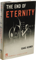 Books:First Editions, Isaac Asimov: The End of Eternity. (New York: Doubleday& Company, 1955), first edition, 191 pages, jacket design byMel...