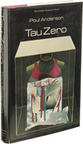 Books:First Editions, Poul Anderson: Tau Zero. (New York: Doubleday & Company,1970), first edition, 208 pages, jacket design by Anita Siegel,...