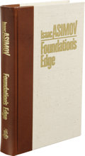 "Books:Signed Editions, Isaac Asimov: Publisher's Personal Signed ""A"" Copy ofFoundation's Edge. (Binghamton: Whispers Press, 1982), thefirst (..."