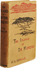 Books:First Editions, H. G. Wells: The Island of Dr. Moreau. (London: WilliamHeinemann, 1896), first edition, 32 page publisher's catalog bou...
