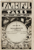"Books:Pamphlets & Tracts, Fall 1936 Fanciful Tales of Time and Space Magazine withLovecraft's ""The Nameless City"". (Oakman, Alabama: Sheperd ..."