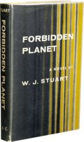 Books:First Editions, W. J. Stuart: Forbidden Planet. (New York: Farrar, Strausand Cudahy, 1956), first printing, 184 pages, yellow boards wi...