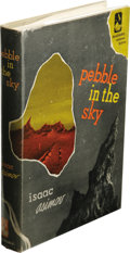 Books:First Editions, Isaac Asimov: Pebble In the Sky. (New York: Doubleday &Company, Inc., 1950), first edition, 223 pages, tan cloth with o...