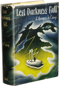 L. Sprague de Camp: Lest Darkness Fall Signed First Edition. (New York: Henry Holt and Co., 1941), first edition, 37