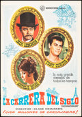 """Movie Posters:Comedy, The Great Race (Warner Bros., 1965). Folded, Very Fine-. Spanish One Sheet (27"""" X 39""""). Comedy.. ..."""
