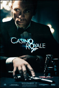 """Casino Royale (MGM, 2006). Rolled, Very Fine+. One Sheet (26.75"""" X 39.75"""") DS Advance. James Bond"""