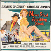 """Never Steal Anything Small (Universal International, 1959). Folded, Fine+. Six Sheet (81"""" X 81""""). Crime"""