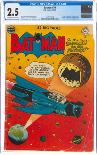 Batman #59 (DC, 1950) CGC GD+ 2.5 Off-white to white pages