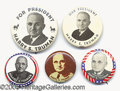 Political:Pinback Buttons (1896-present), (5) SIZES OF THIS POPULAR TRUMAN CAMPAIGN BUTTON. Five sizes of ...