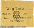 """Political:Small Paper (pre-1896), EARLY 8 1/2 X 11"""" BLANK-BACKED WHIG POLITICAL BROADSIDE. Attract..."""