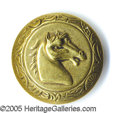 Political:Ferrotypes / Photo Badges (pre-1896), TAYLOR HORSE HEAD BACKNAME SLOGAN BUTTON. This unlisted button m...