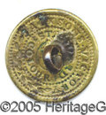 Political:Ferrotypes / Photo Badges (pre-1896), JACKSONS VICTORY BACKNAME BUTTON. Albert PC-78, 21 mm in gilt br...