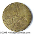 Political:Ferrotypes / Photo Badges (pre-1896), EAGLE WITH STAR. Albert WI-12C in brass. A SUPERB example with s...