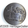 Political:Ferrotypes / Photo Badges (pre-1896), HARRISON BLACK HARD RUBBER BUTTON. Albert PC-164-A1, 21 mm one-p...
