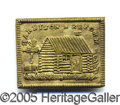 Political:Ferrotypes / Photo Badges (pre-1896), UNLISTED 1840 HARRISON BRASS PIN. Unlisted 1840 Harrison brass p...